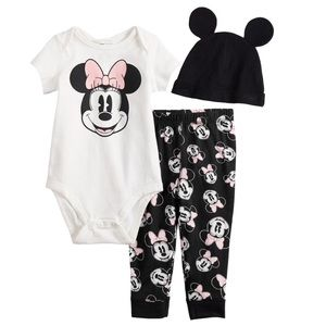 Minnie Mouse Disney Outfit Girl Pink Ears Baby NEW